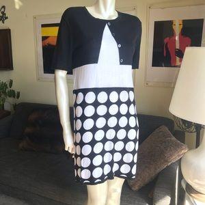 LOVE MOSCHINO DRESS BLACK AND WHITE